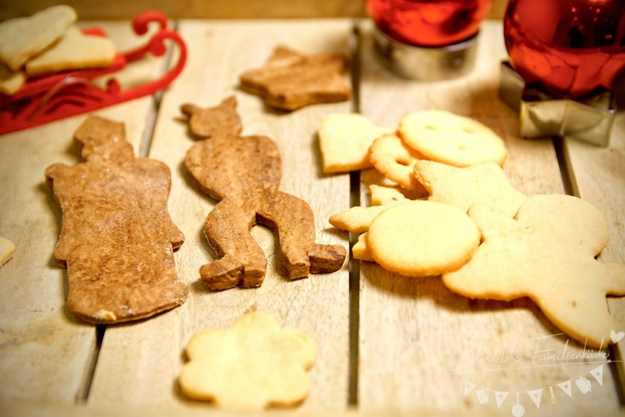Die fertigen Kekse in 2 Varianten - Glorreiche Familienkueche