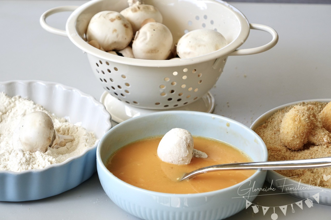 Gebackene Champignons Zutaten und Zubereitung Glorreiche Familienküche