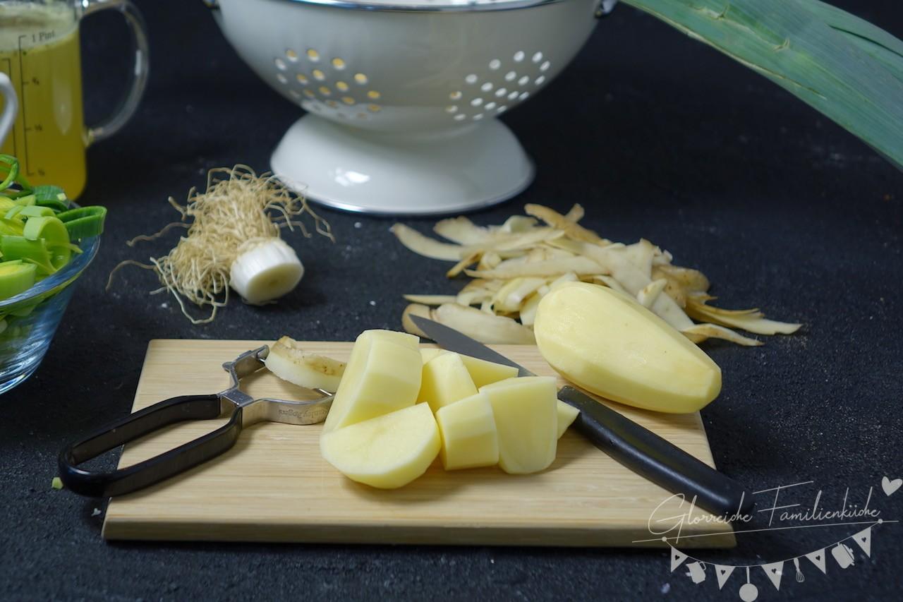 Lauchcremesuppe Zubereitung Schritt 1 Glorreiche Familienküche