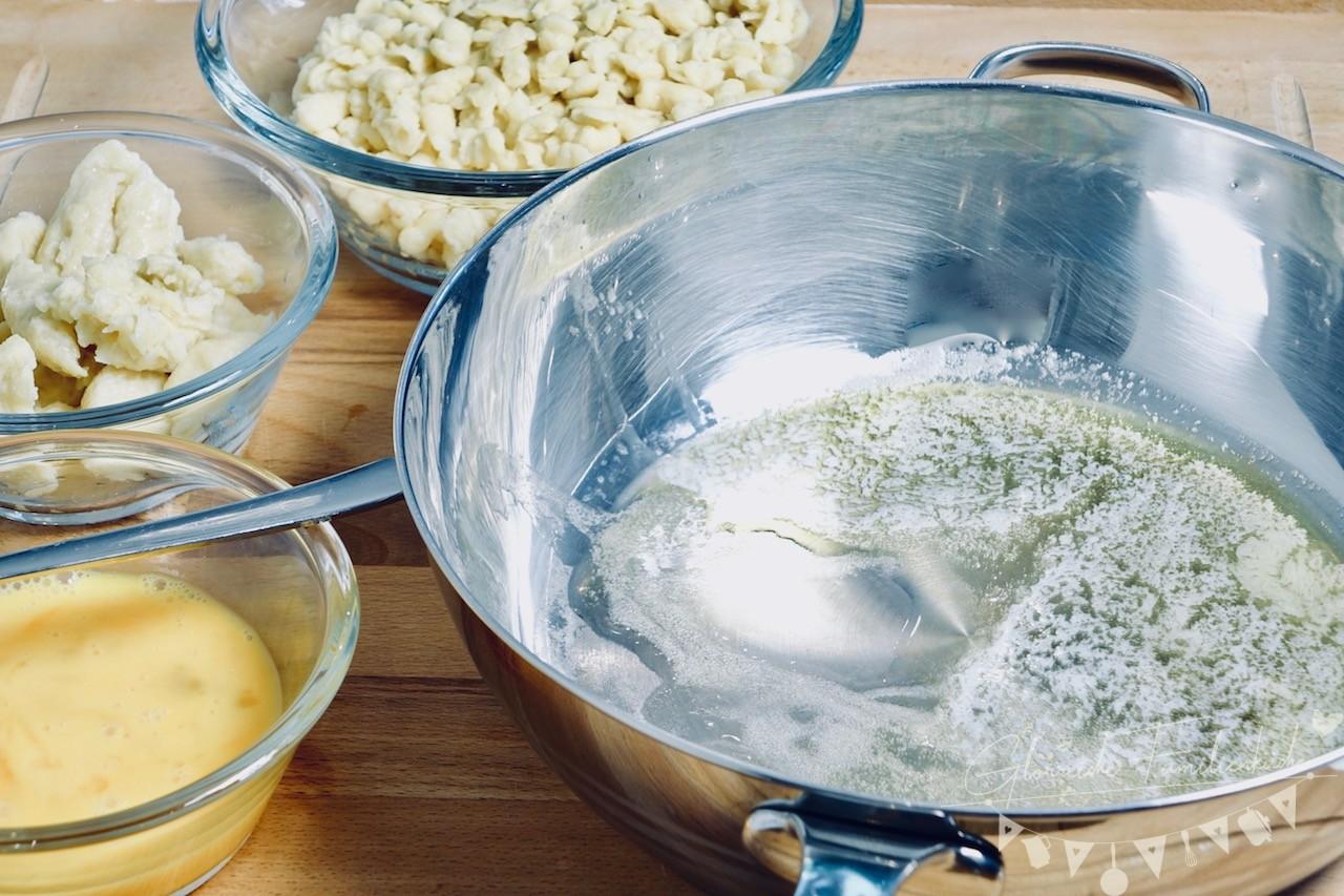 Eiernockerln Zubereitung Schritt 4 Glorreiche Familienküche