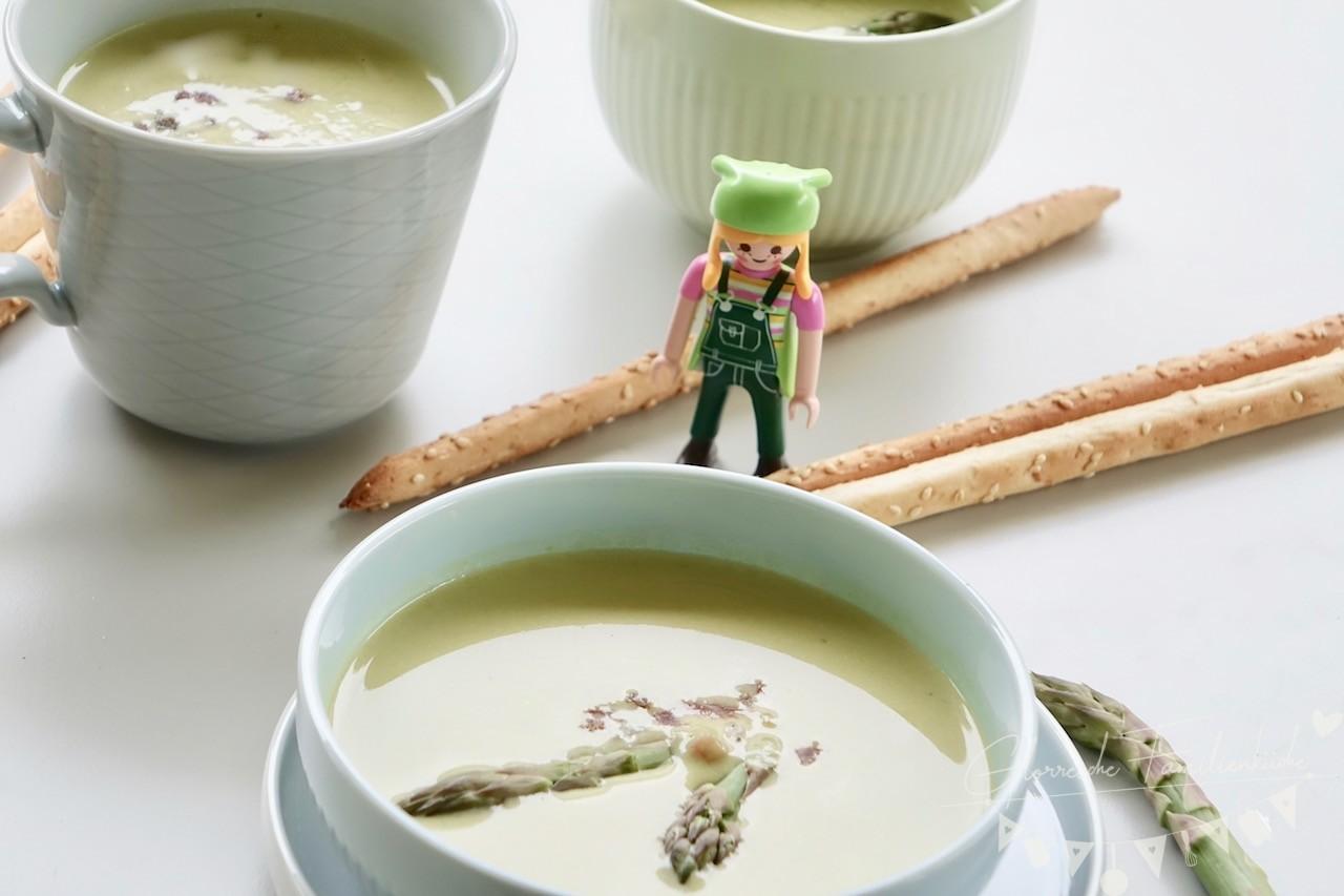 Grüne Spargelcremesuppe Glorreiche Familienküche