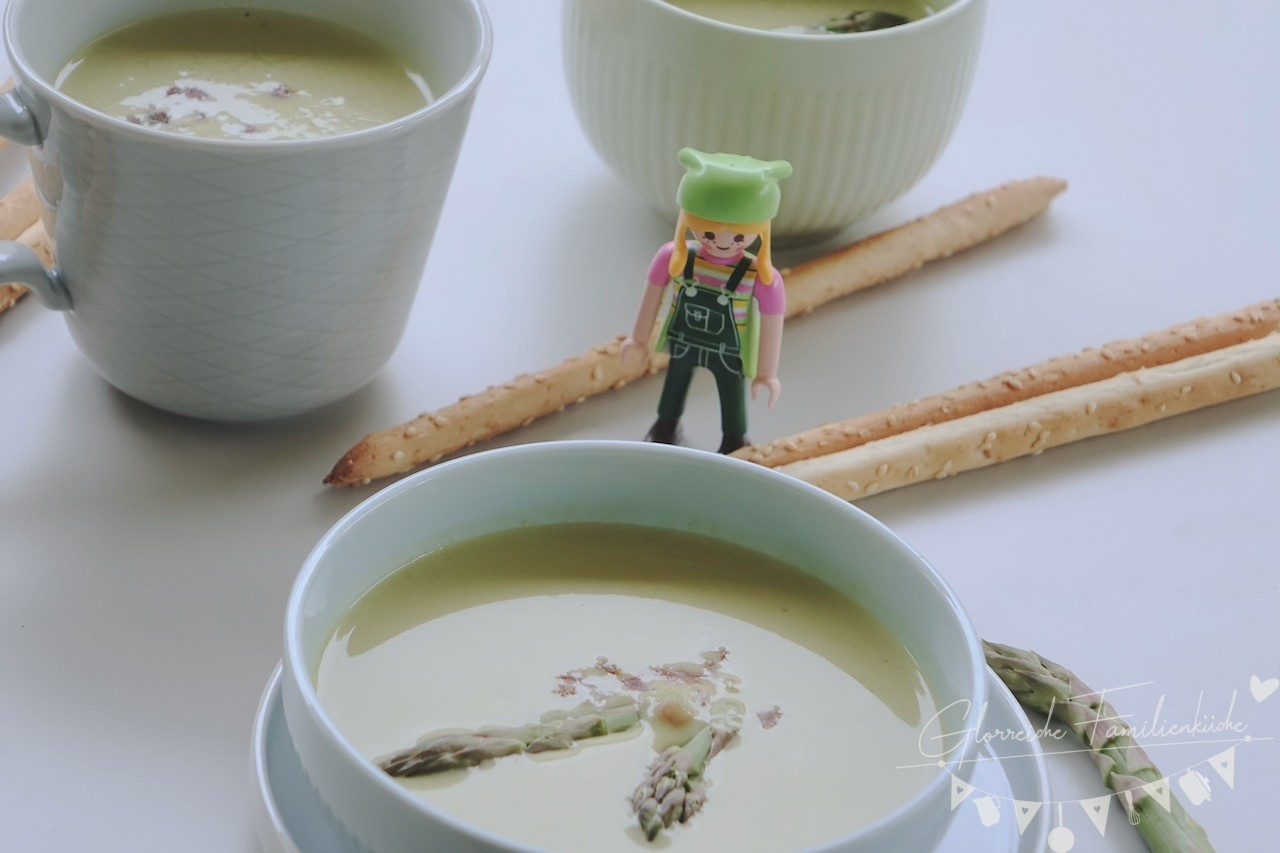 Gruene Spargelcremesuppe Rezept Glorreiche Familienkueche