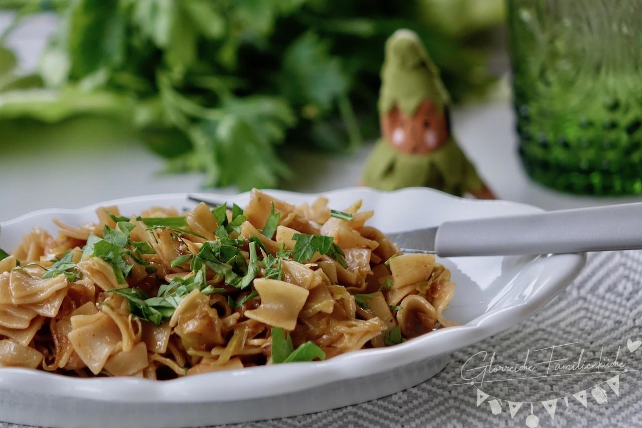 Krautfleckerl Gericht Glorreiche Familienküche
