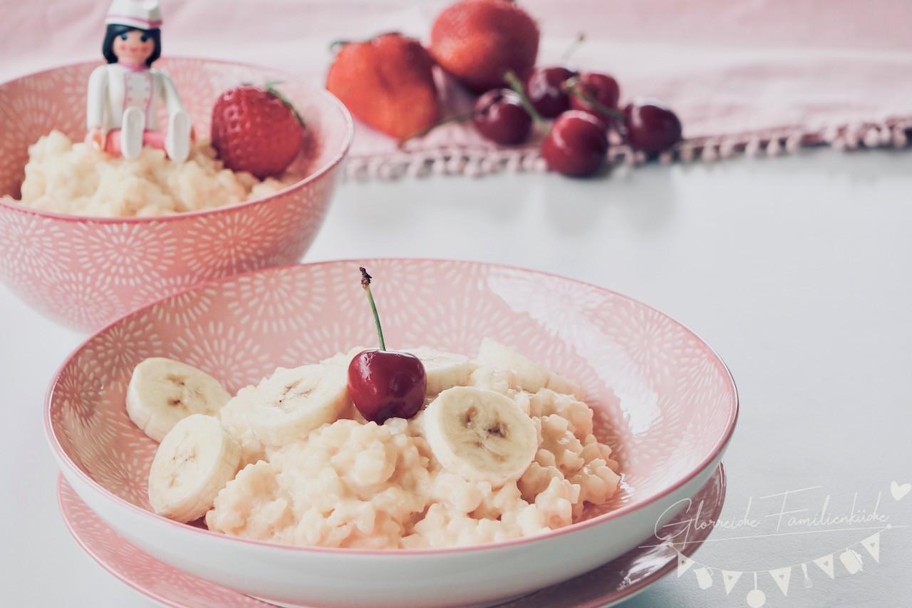 Milchreis Gericht Glorreiche Familienküche