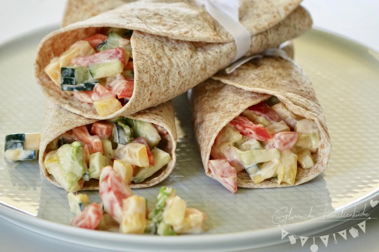 Gemüse Wrap Gericht Glorreiche Familienküche
