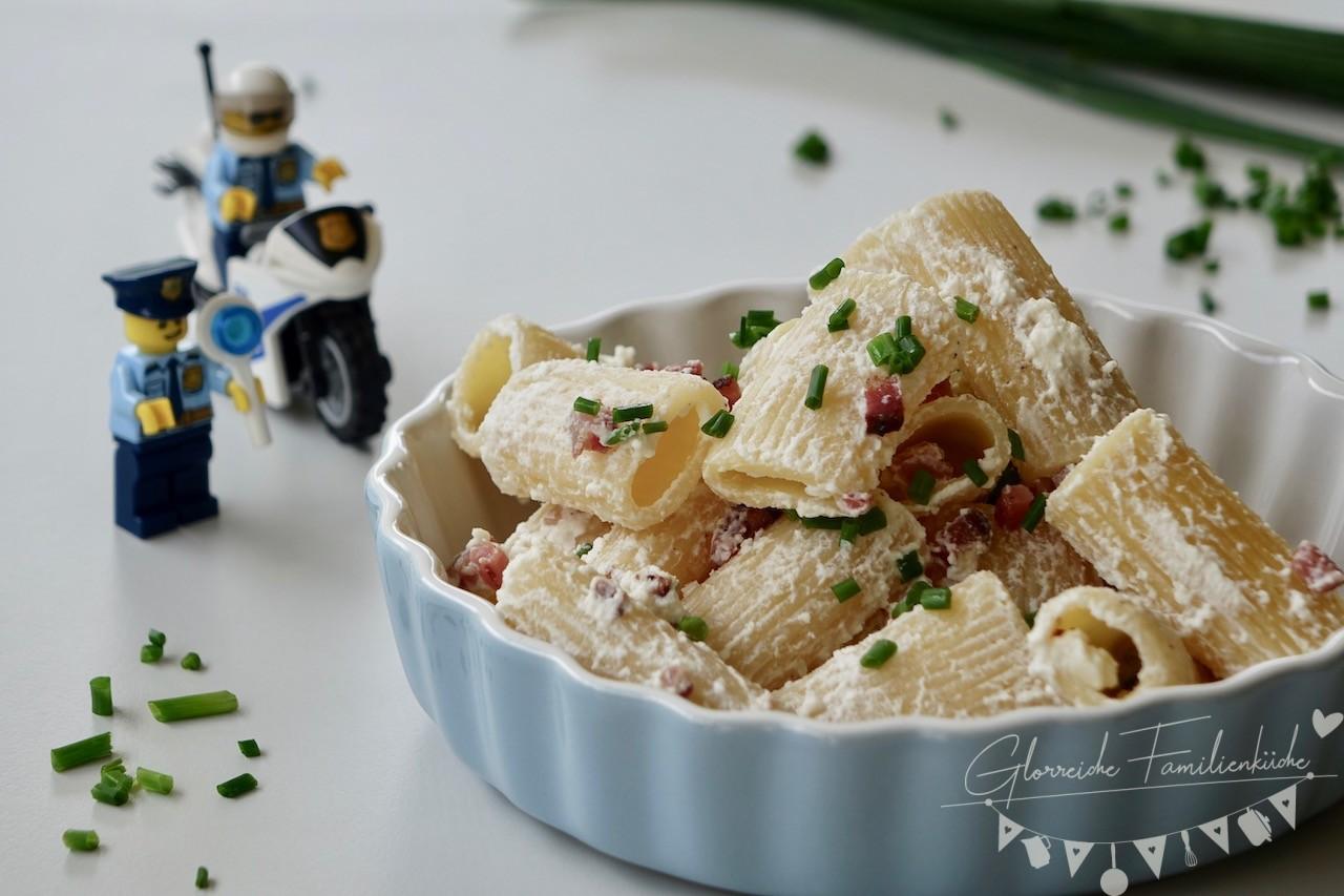 Pasta mit Ricotta und Speck Gericht 2 Glorreiche Familienküche