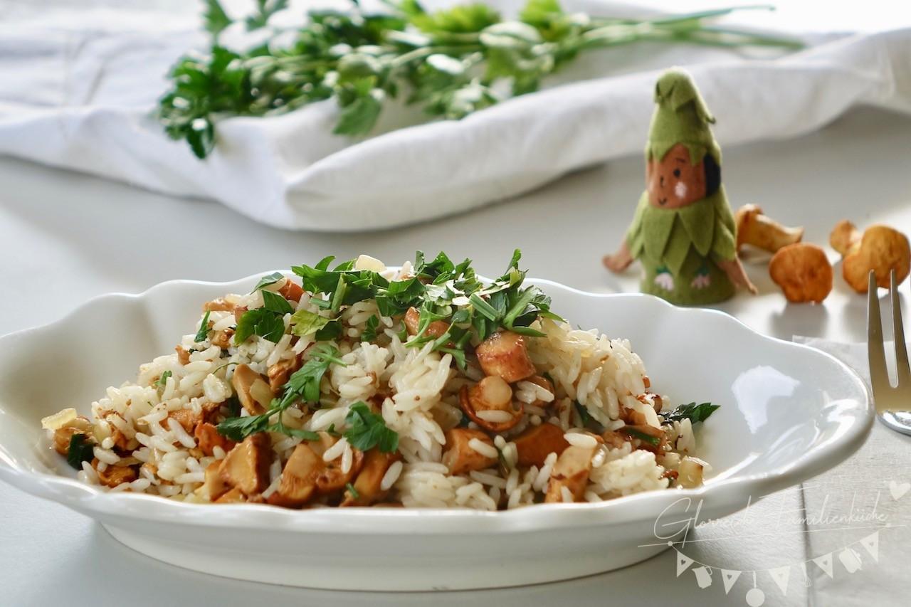 Eierschwammerreis Gericht Glorreiche Familienküche