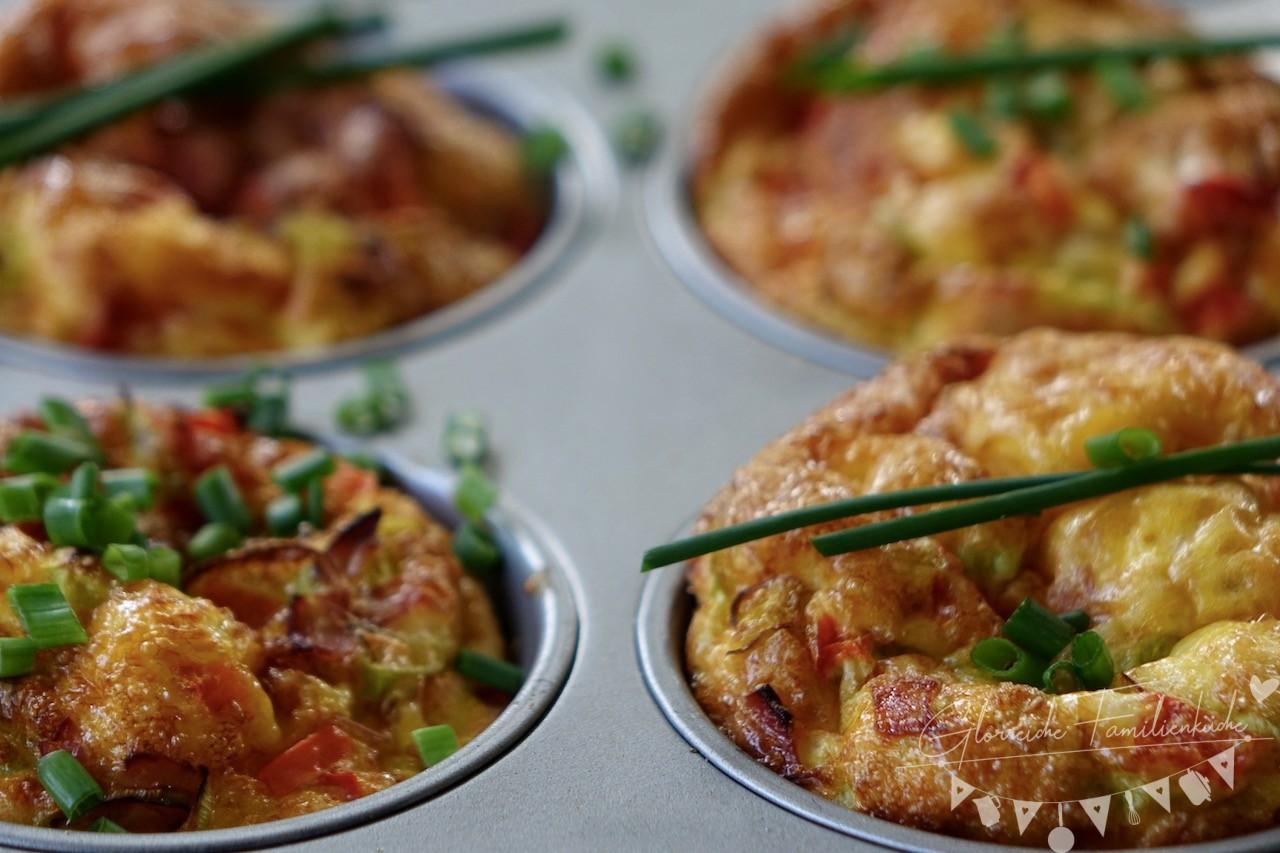 Eiermuffins Gericht Glorreiche Familienküche