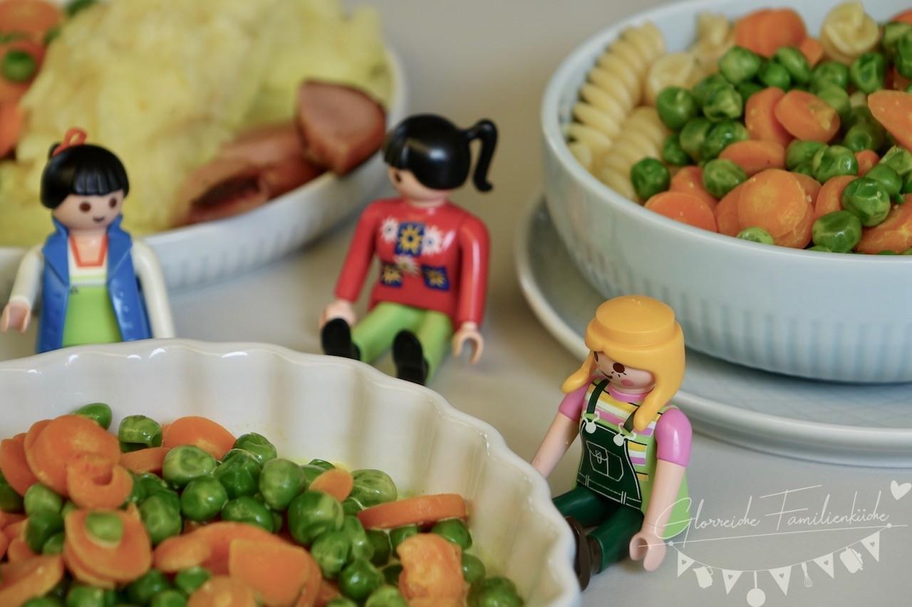 Erbsen Karotten Sauce mit Nudeln Glorreiche Familienküche