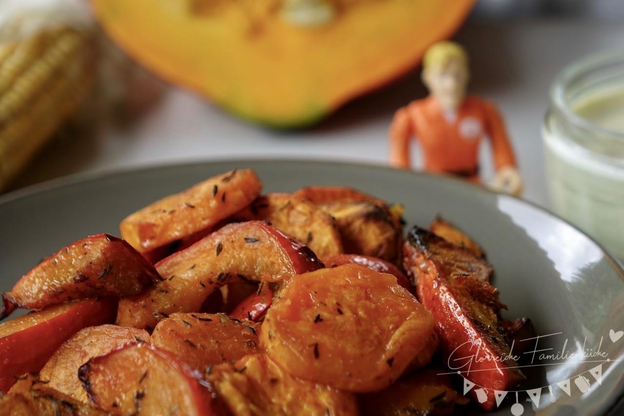 Süßkartoffel Ofengemüse Gericht Glorreiche Familienküche