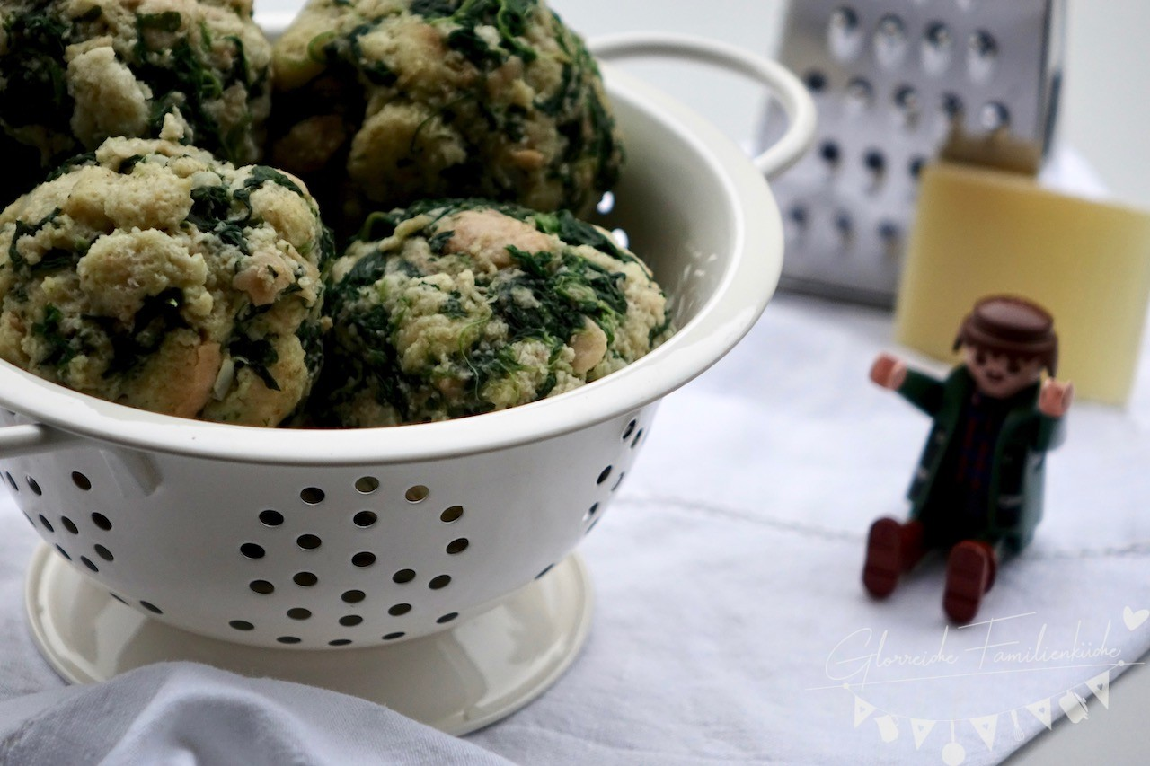 Dinkel Spinat Knödel Gericht 2 Glorreiche Familienküche