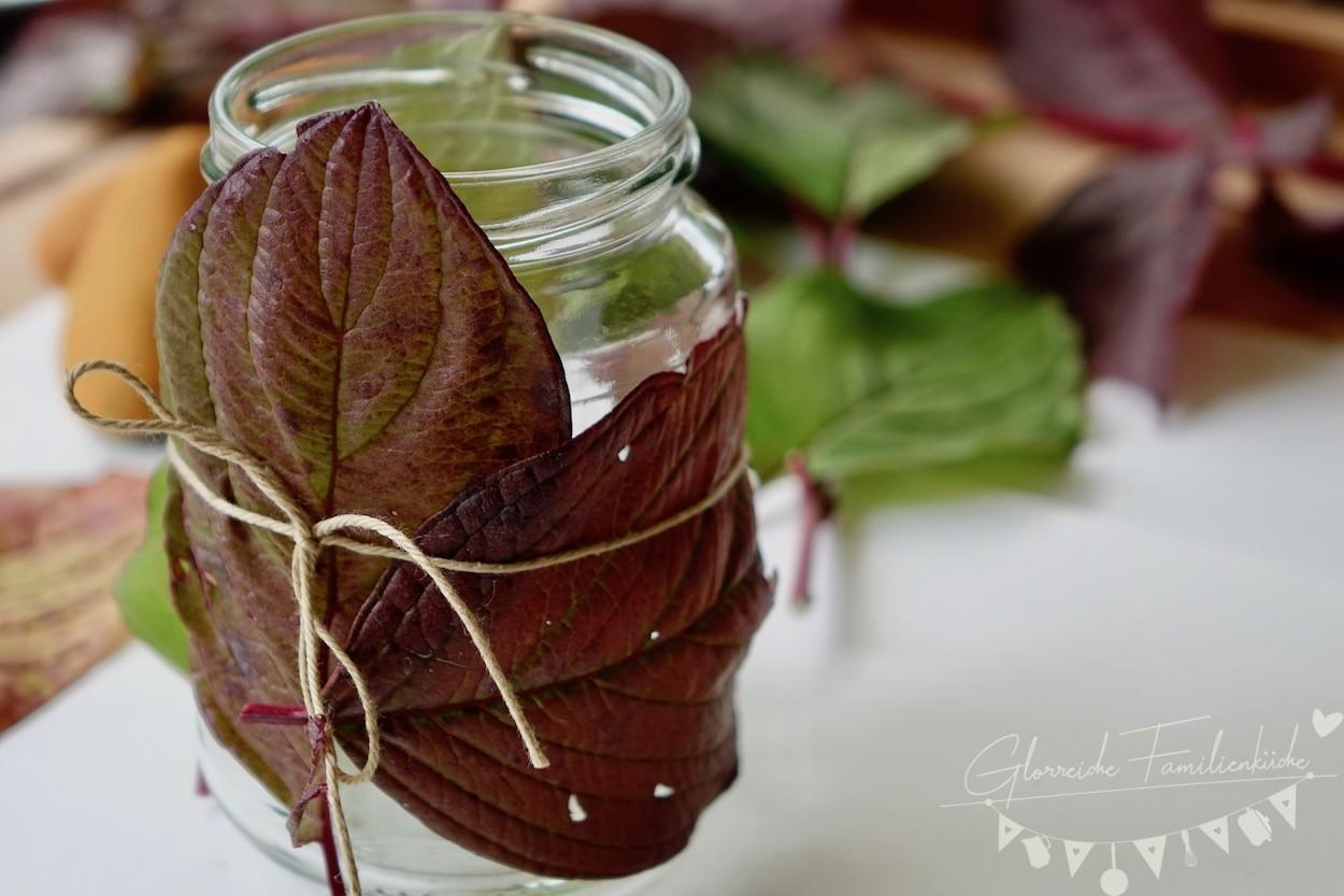 Herbstdeko Teelicht Glorreiche Familienküche