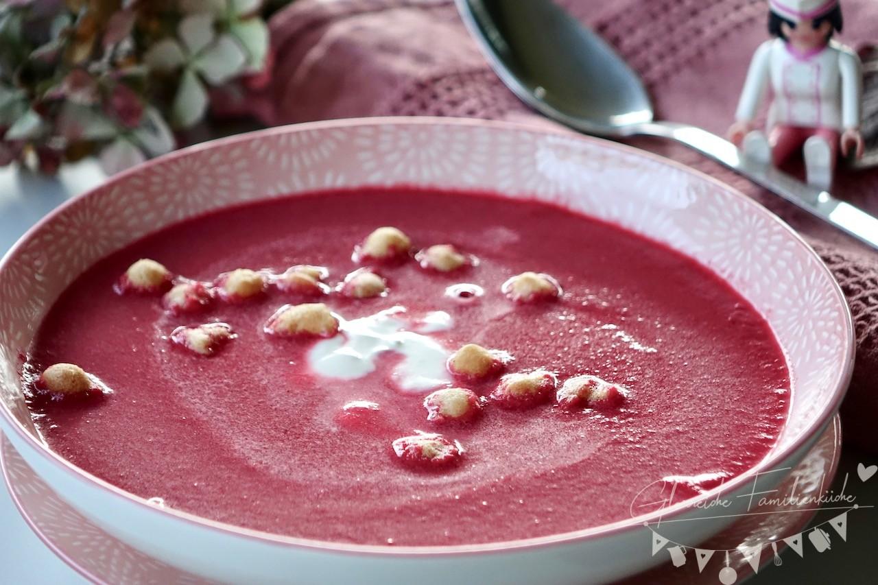 Rote Rüben Suppe Gericht Glorreiche Familienküche