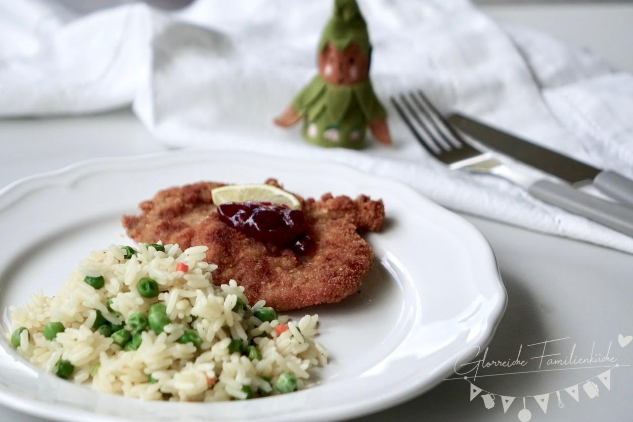 Gebackene Schnitzel Gericht Glorreiche Familienküche