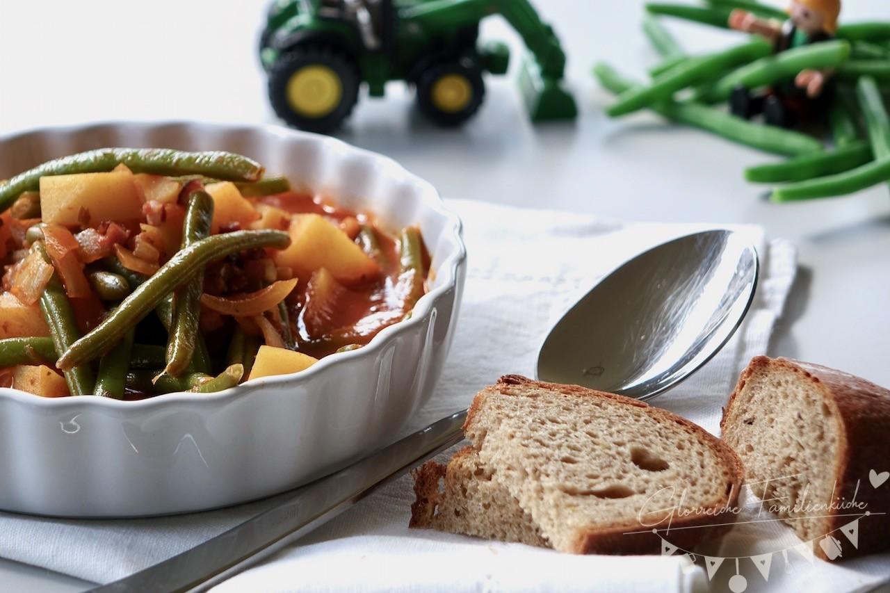 Fisolengulasch Gericht Glorreiche Familienküche