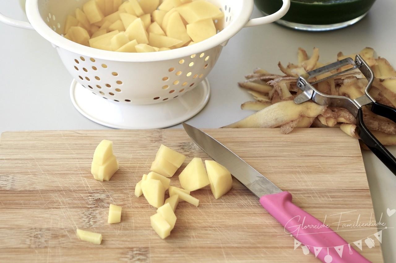 Kartoffel Spinat Suppe Schritt 1 Glorreiche Familienküche