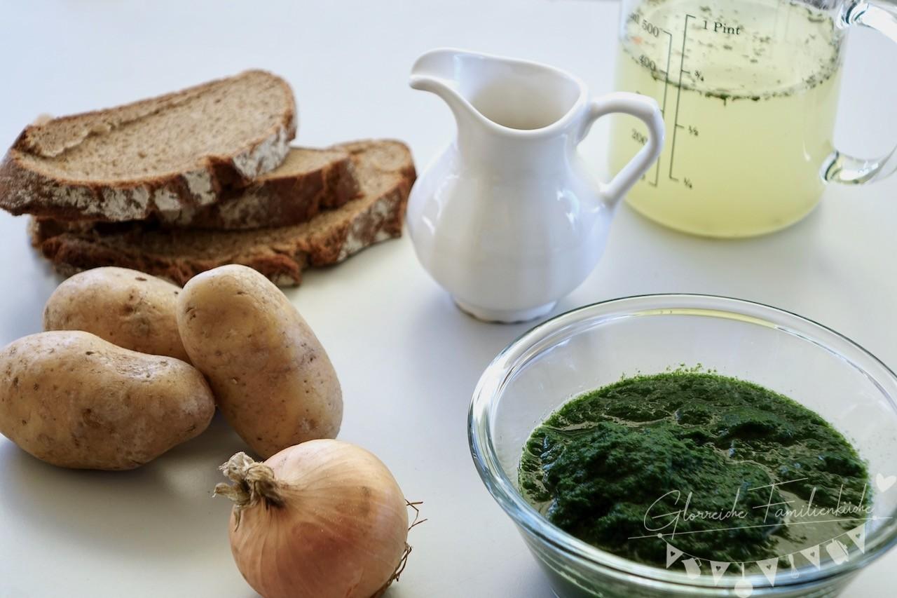 Kartoffel Spinat Suppe Zutaten Glorreiche Familienküche