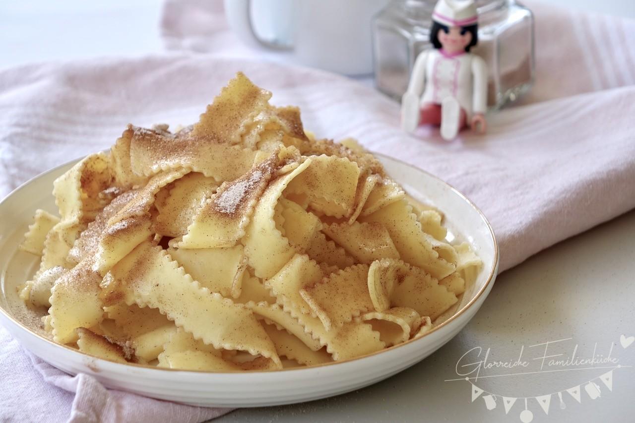 Nudeln mit Zimt und Zucker Gericht Glorreiche Familienküche