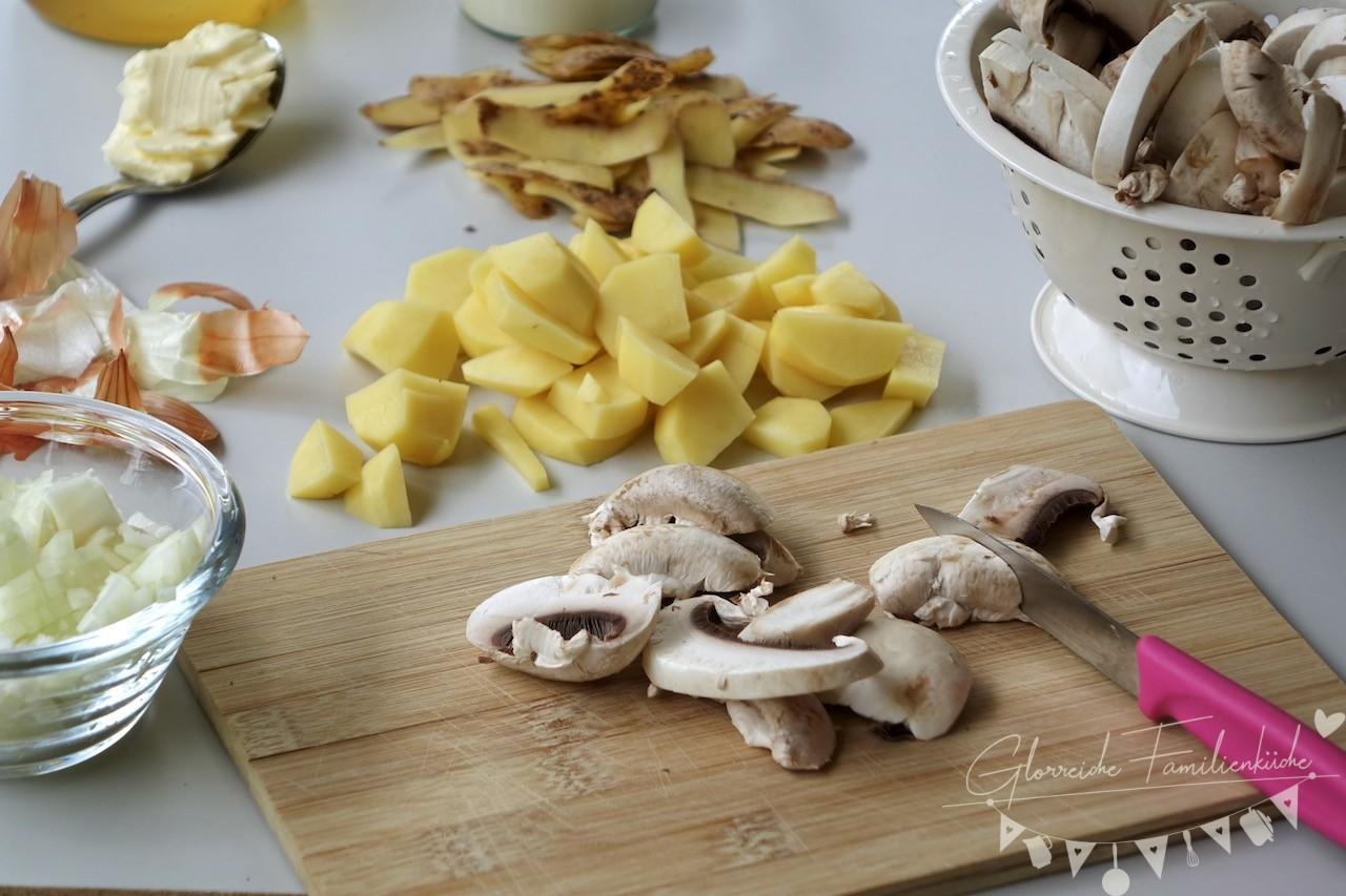 Cremige Champignonsuppe Zubereitung Glorreiche Familienküche