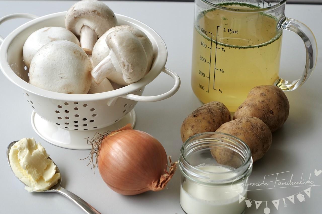 Cremige Champignonsuppe Zutaten Glorreiche Familienküche