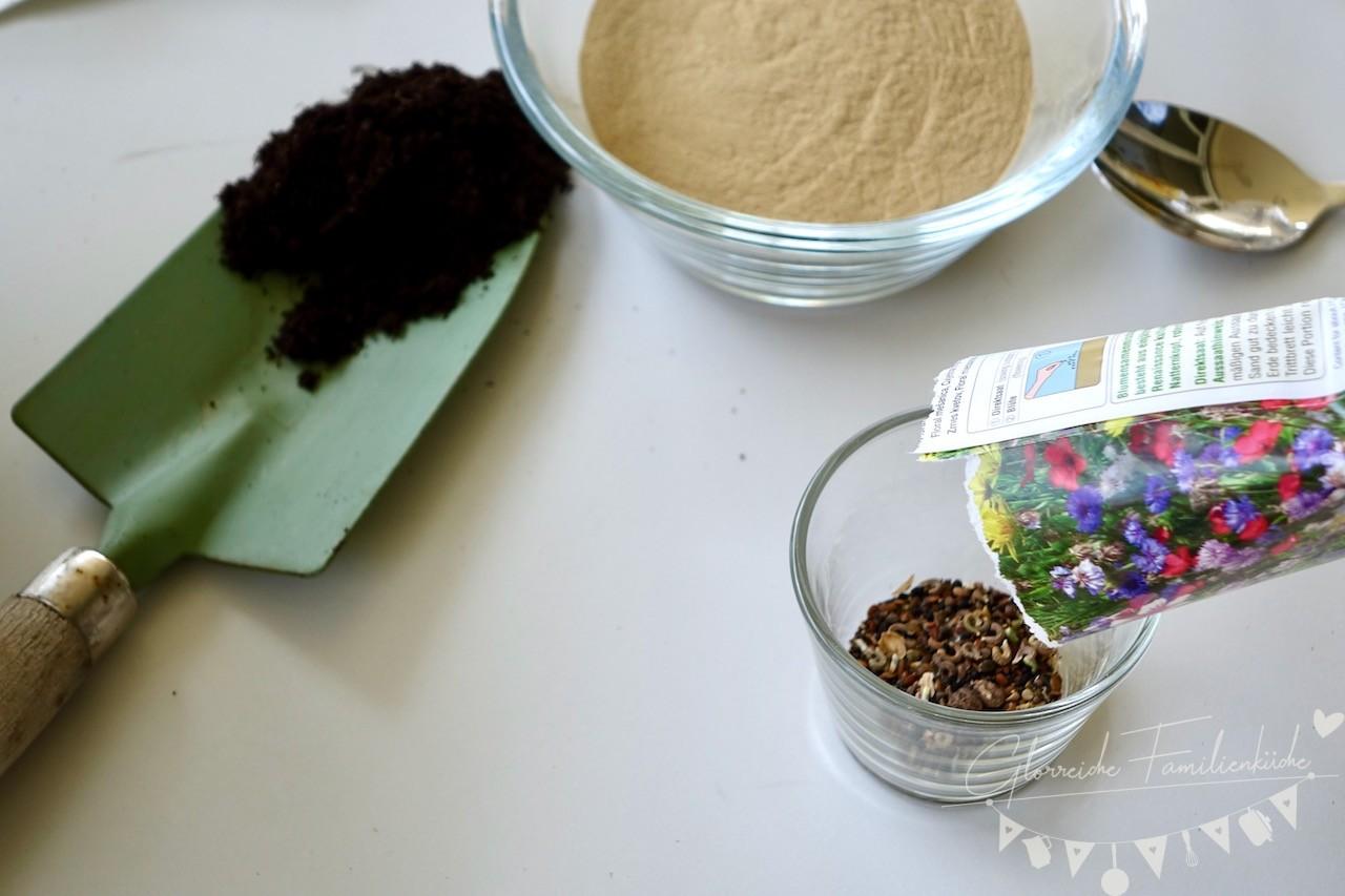 Samenbomben Materialien Glorreiche Familienküche