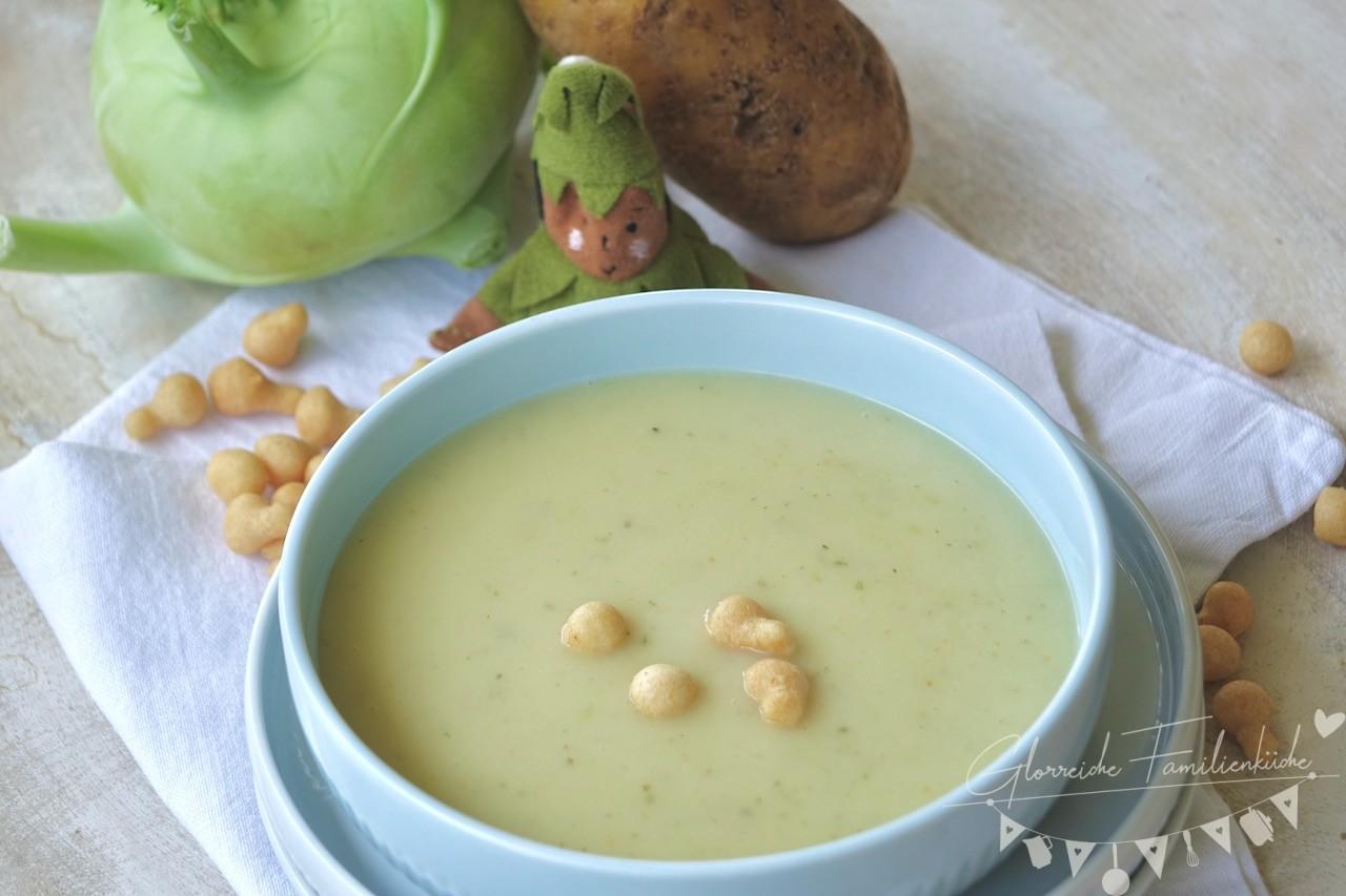 Kohlrabi Cremesuppe Gericht Glorreiche Familienküche