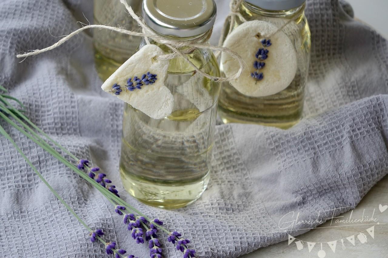 Salzteiganhänger für Lanvendelsirup Glorreiche Familienküche