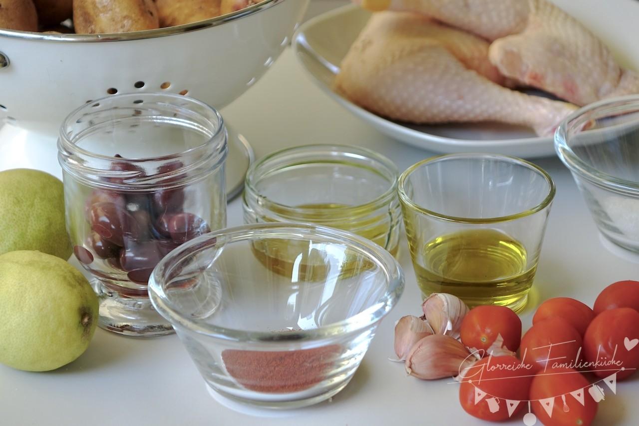Ofen Hähnchen Zutaten Glorreiche Familienküche