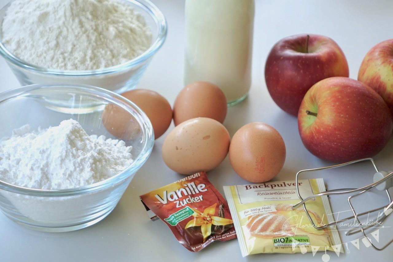 Apfelkuchen Zutaten Glorreiche Familienküche
