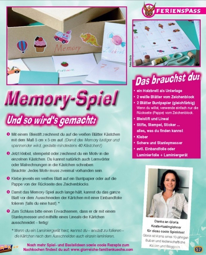 Memory Spiel Glorreiche Familienküche