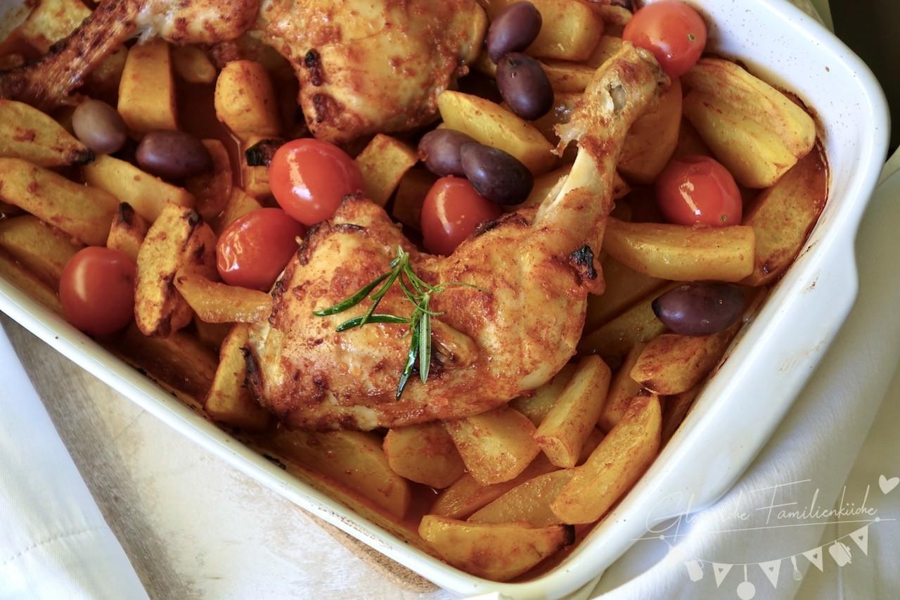 Ofen Haehnchen Gericht 2 Glorreiche Familienkueche