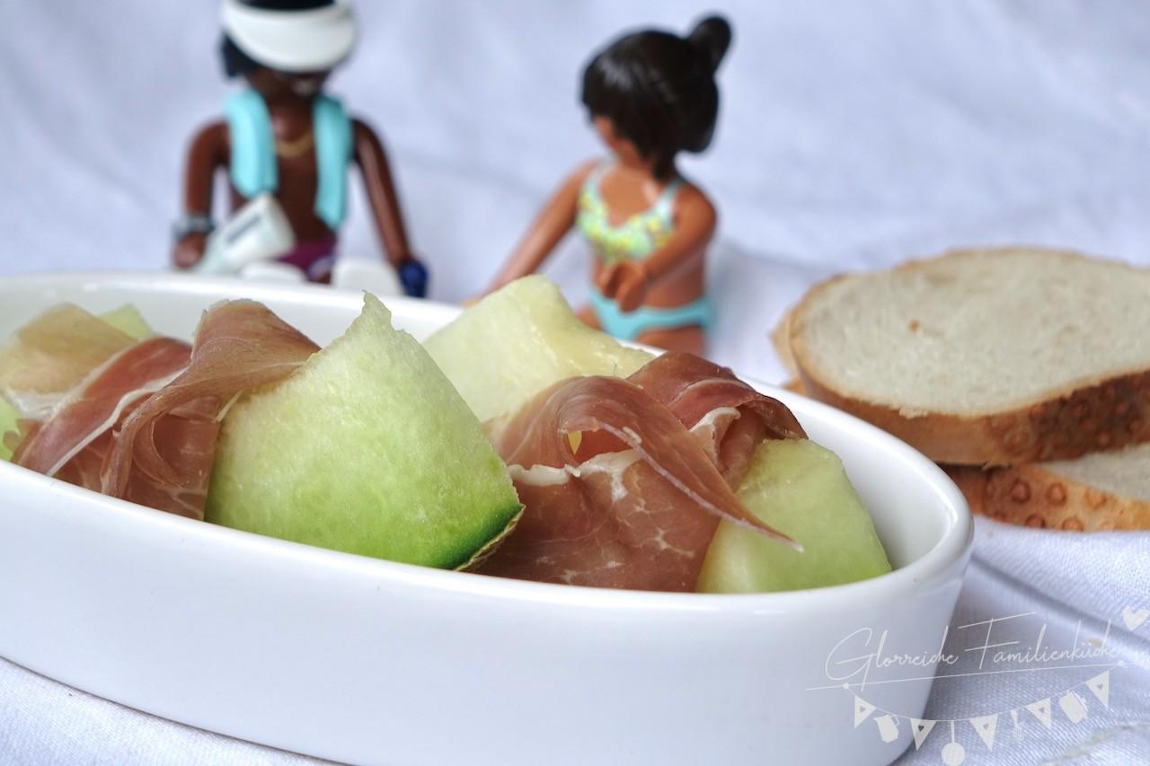 Proscitutto mit Melone Gericht Glorreiche Familienküche
