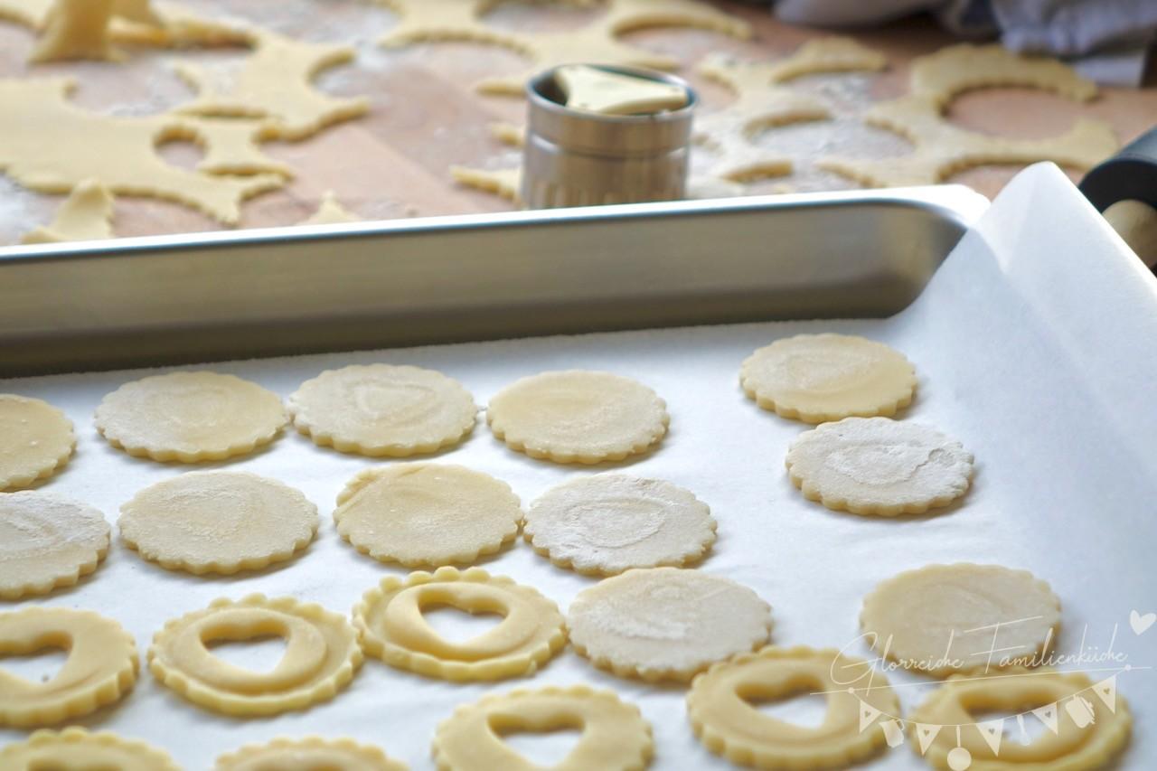 Linzerkekse Butterkekse Glorreiche Familienküche