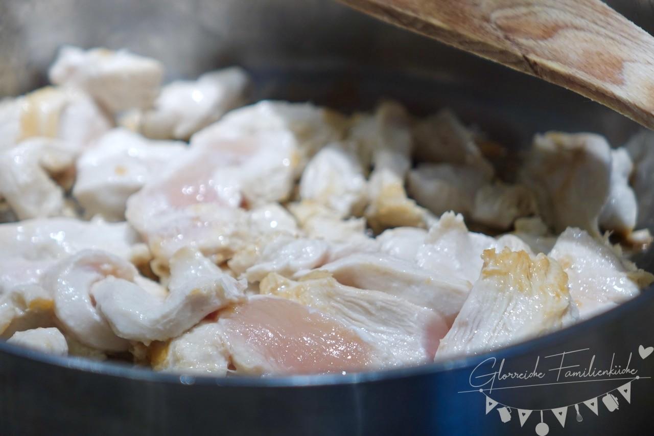 Paprika-Rahmgeschnetzeltes Zubereitung Glorreiche Familienküche
